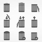 Trash Can Icons