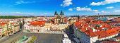 Panorama of the Old Town Square in Prague, Czech Republic