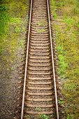 High angle view of a railway track
