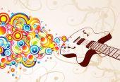 Burbujas de canto Guitarra Retro