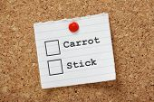 Carrot or Stick Method?