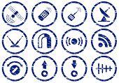 Conjunto de iconos de gadget.
