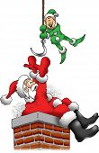 Santa is Stuck in a Chimney