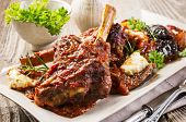 picture of lamb shanks  - braised lamb knuckle - JPG