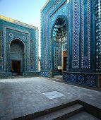 Oriental complex of buildings of Shah i Zinda. Samarkand, Uzbekistan