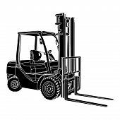 Forklift Silhouette Vector.eps