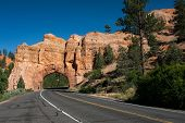 Red Arch road tunnel on the way to Bryce Canyon National Park,Ut