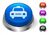 Taxi Icons on Round Button Collection