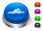 Rowing Icons on Round Button Collection