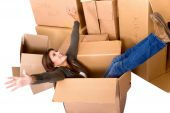 Woman In A Moving Box
