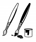 paint brush icons