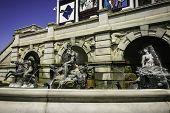 Fountain Of Bronze Sculptures Washington