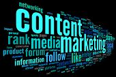 foto of recommendation  - Content marketing concept in word tag cloud on black background - JPG