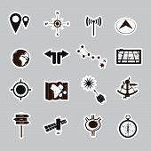navigation stickers set eps10
