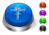 Cross Icons on Round Button Collection