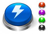 Lightning Bolt Icons on Round Button Collection