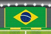 stadium transform cheering into Brazil flag