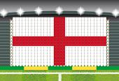 stadium transform cheering into England flag