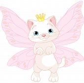 Illustration of Cute Fairy Cat