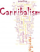 picture of cannibalism  - Word cloud concept illustration of cannibalism cannibal - JPG