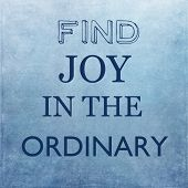 stock photo of philosophical  - Find joy in the ordinary - JPG