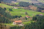 foto of basque country  - Village scene at Gipuzkoa in Basque Country - JPG