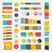 stock photo of bubbles  - Collections of infographics flat design diagrams - JPG