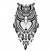 stock photo of tribal  - Decorative Owl - JPG