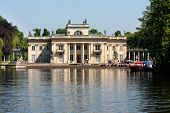Lazienki Park in Warsaw,  Palace On The Water
