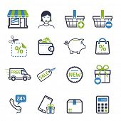 Shopping icons set 03