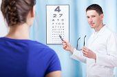 Oculist Examining Patient