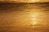Golden Water Abstract