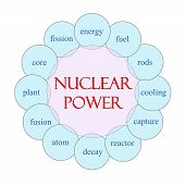 picture of reactor  - Nuclear Power Word Circle Concept with great terms such as energy fuel reactor and more - JPG