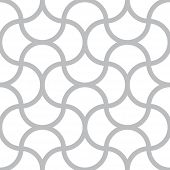 Vector Seamless Pattern - Simple Geometric Lines On White Square Background