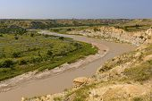Muddy River In The Badlands