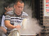 Chinese noodles in Luodai Chengdu China