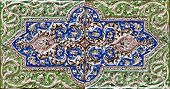 Embossed Colorful Old Persian Tile