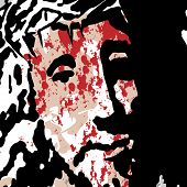 foto of crown-of-thorns  - illustration of Jesus Christ crowned with thorns - JPG
