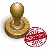 Made In United States Grunge Rubber Stamp