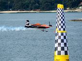 Rovinj, Croatia - April 13 2014 Airplane At Red Bull Air Race Event