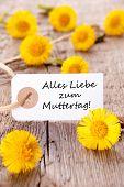 White Tag With Alles Liebe Zum Muttertag