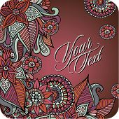 Vector decorative card design