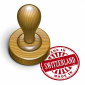 Made In Switzerland Grunge Rubber Stamp