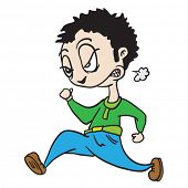 angry man running cartoon