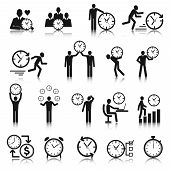 Time Management Icons Set