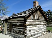 image of boise  - This tiny log cabin was constructed in 1863 and became the first settler - JPG