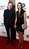 NEW YORK-APR 16: Cinematographer Frank Larson (L) and Brianna Myers attend the premiere of