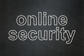 Safety concept: Online Security on chalkboard background