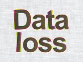 Information concept: Data Loss on fabric texture background