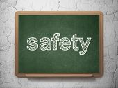 Privacy concept: Safety on chalkboard background